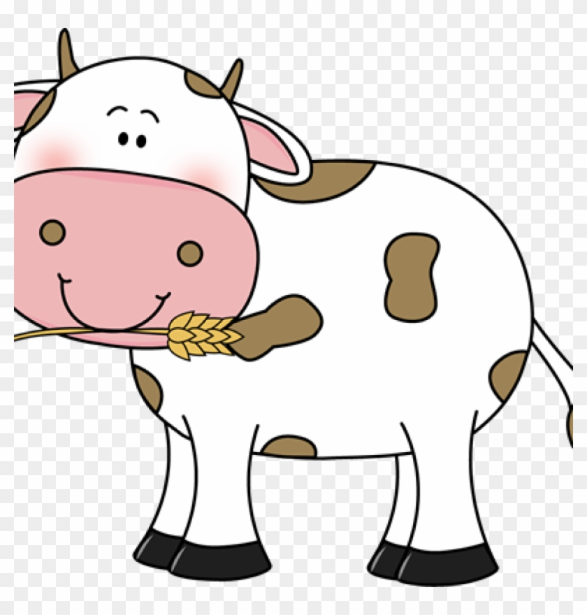 Free Cow Clipart Free Cow Clip Art Cow With Wheat In - Cute Cow Head Clipart #885962