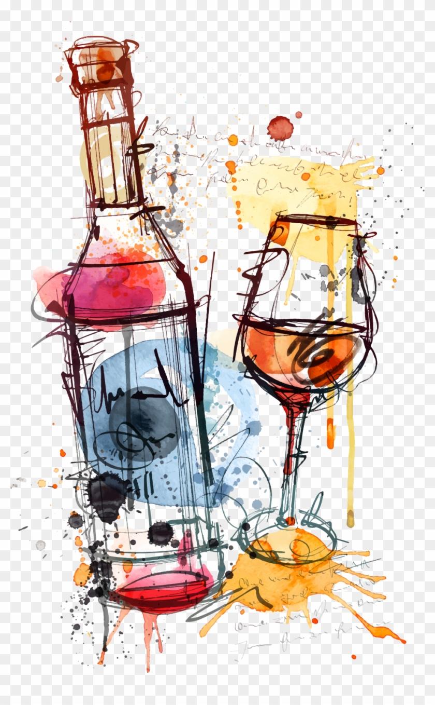 Red Wine Bottle Rosé Clip Art - Wine Bottle Design Art #886282