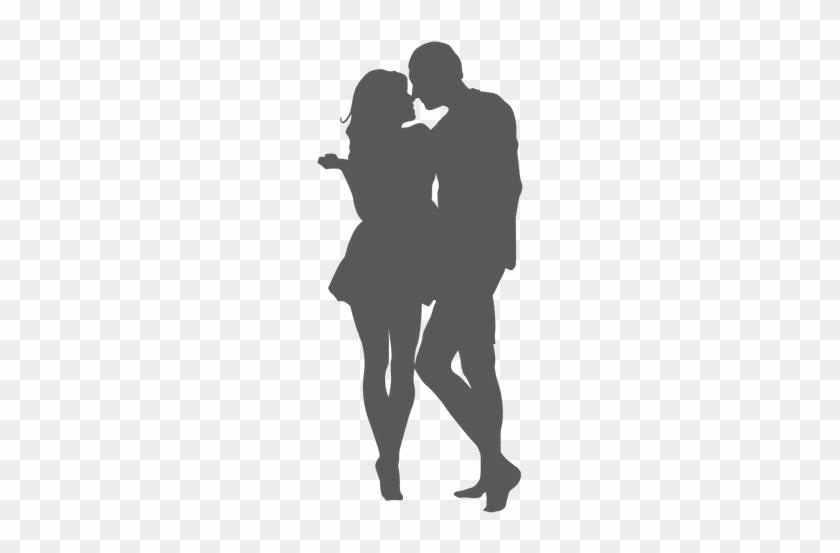 Romantic Kissing Lover Silhouette Casal Apaixonado Desenho Png