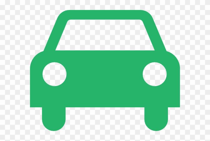 Green Car Outline Clip Art - Taxi Logo White #886719