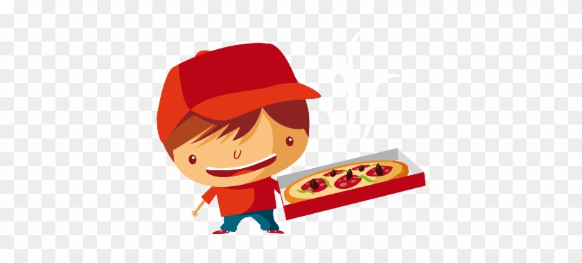 Make Your Day Special With Us - Pizza Delivery Guy Cartoon #886850