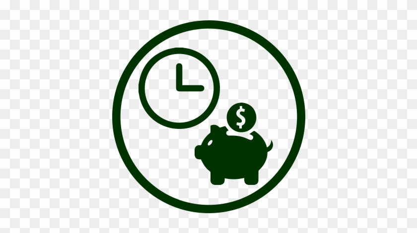 Save Time And Money - Money Pig Icon #886984