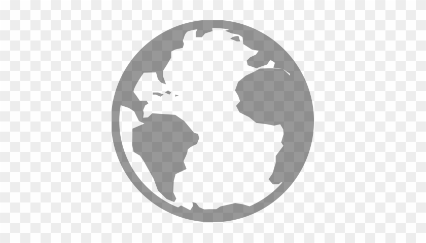 World Icon - World Image Png Black And White - Free
