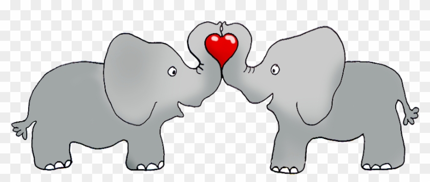 Elephant Clipart Valentine - Valentines Day Elephant Clip Art #887139