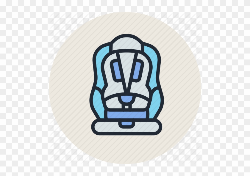 Baby Belt Car Chair Child Safety Seat Icon Baby Chair