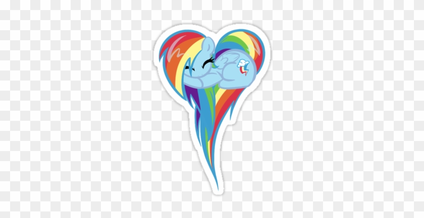 My Little Pony Heart Of Rainbow Dash Sticker - Rainbow Dash Heart #888120