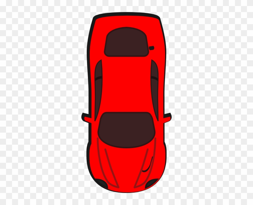 Clipart Racing Stripes Car Top View - Birds Eye View Car #888767