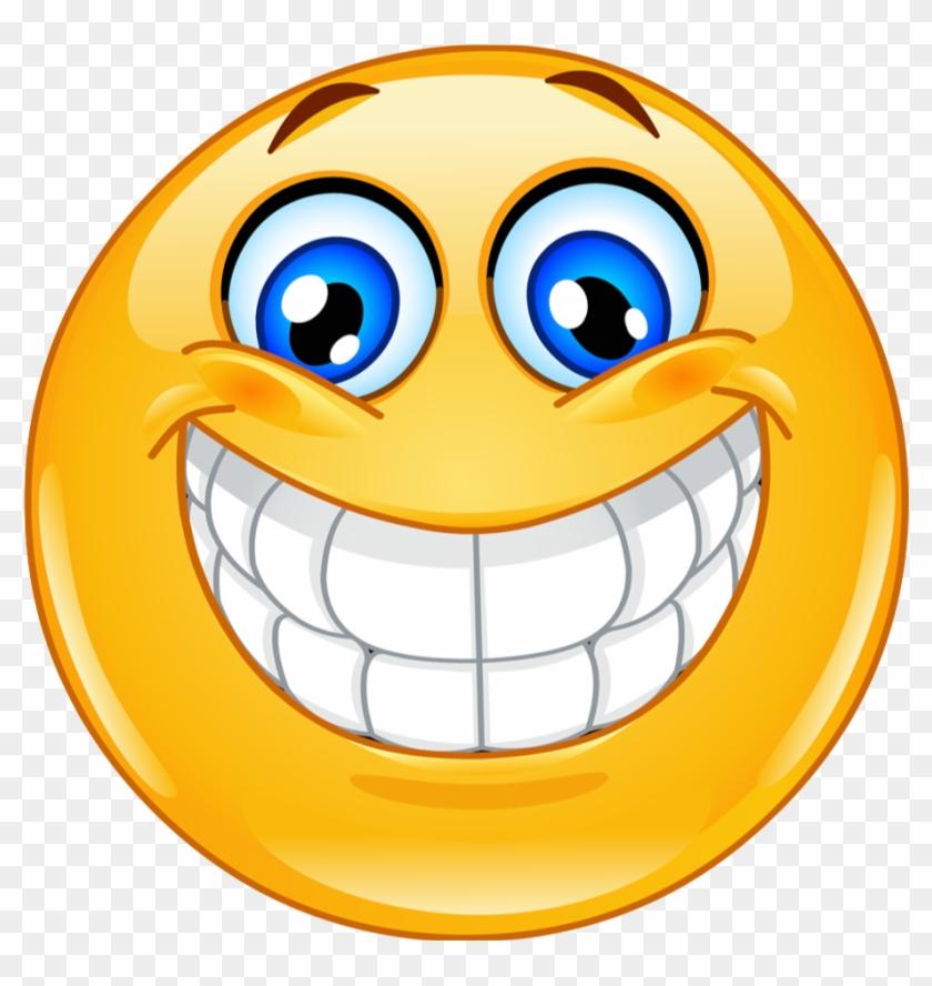 Smiley Emoticon Clip Art - Big Smile #889076