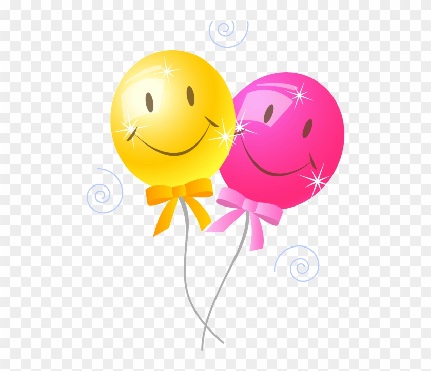 Clip Art Of A Bouquet Of Colorful Balloons For A Birthday - Birthday Balloons Clip Art #889714