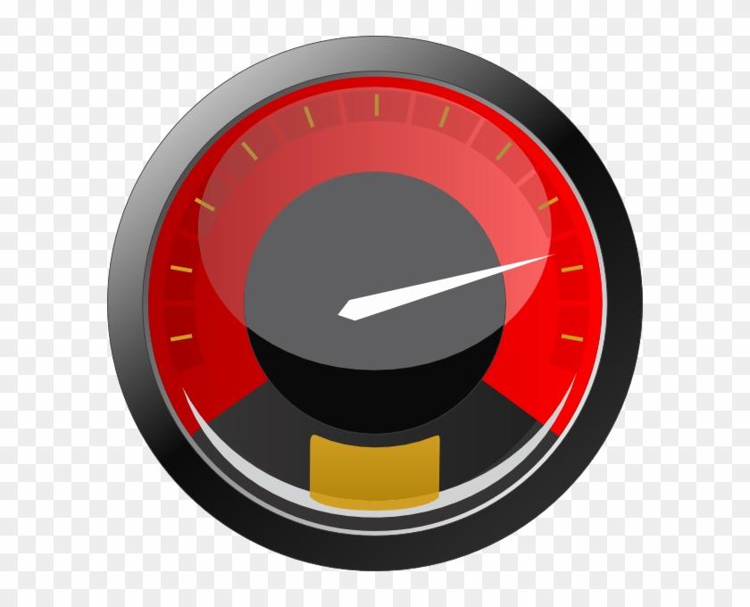 Speedometer 3 Clip Art At Clker Com Vector Clip Art - Speedometer Icon #890044