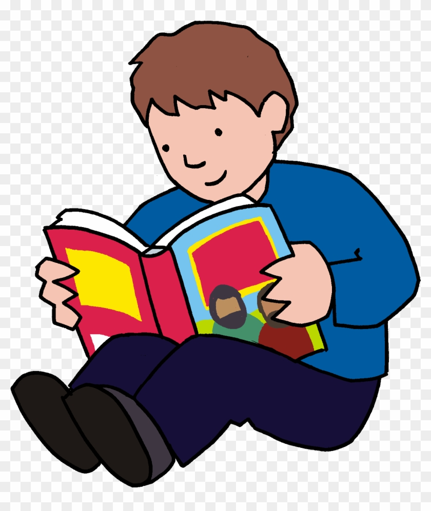 Bible Story Child Book Clip Art - Bible Reading Boy Png #890190