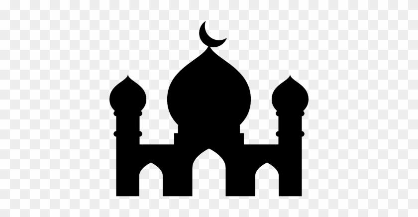 Gambar Ikon Masjid Hitam Putih Mosque Icon Png Free Transparent Png Clipart Images Download