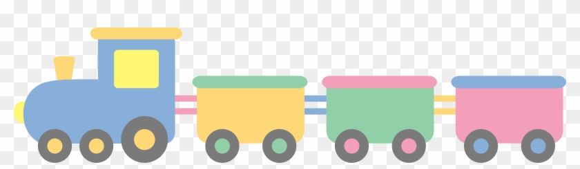 Pastel Cliparts - Baby Toys Train Clipart #890825