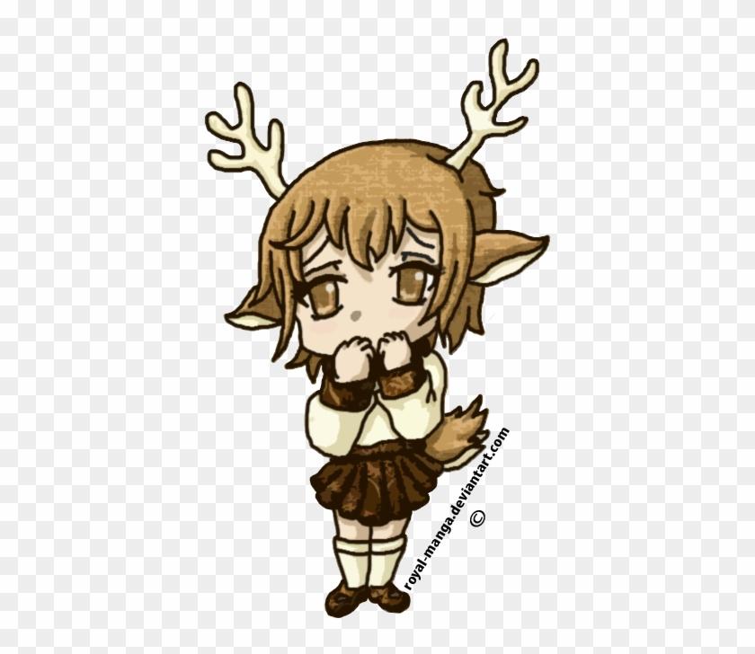 Chibi Reindeer Girl By Royal Manga On Deviantart Rh - Reindeer Chibi #891139