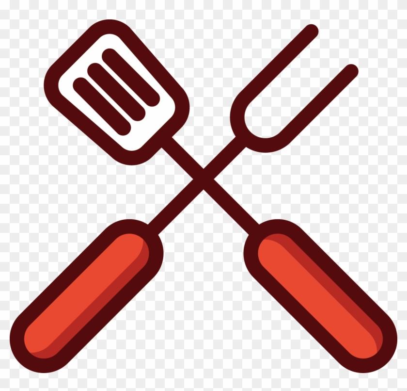 Churrasco Barbecue Putty Knife Download Icon - Garfo E Faca