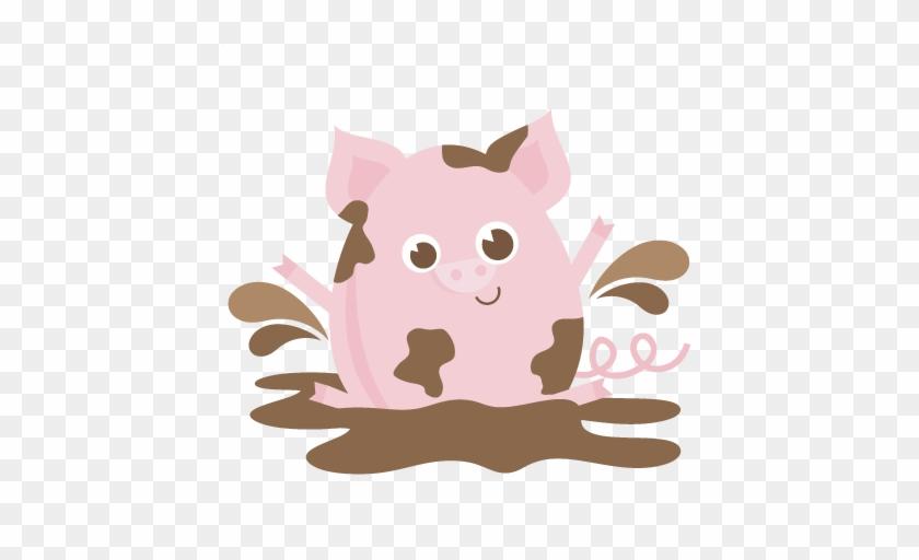 Mud Clipart Cute Pig - Mud Pig Clipart #892094