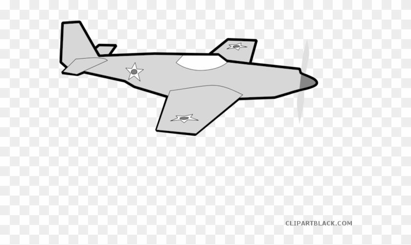 Flying Airplane Transportation Free Black White Clipart Cartoon