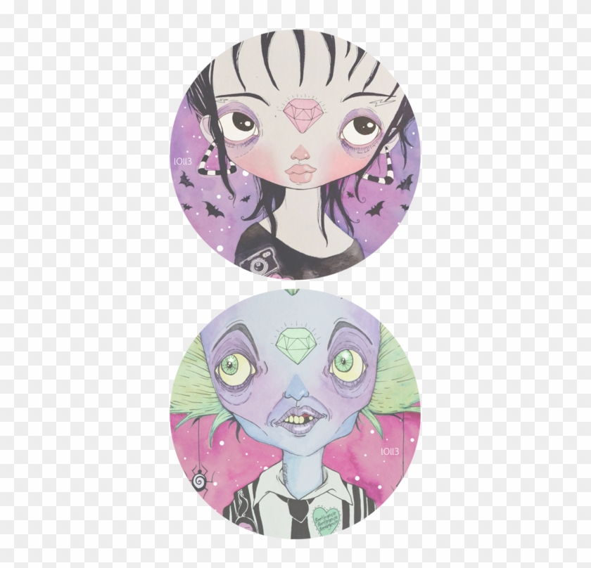 A Fan Art Of Lydia Deedz And Beetlejuice Cartoon Free Transparent Png Clipart Images Download