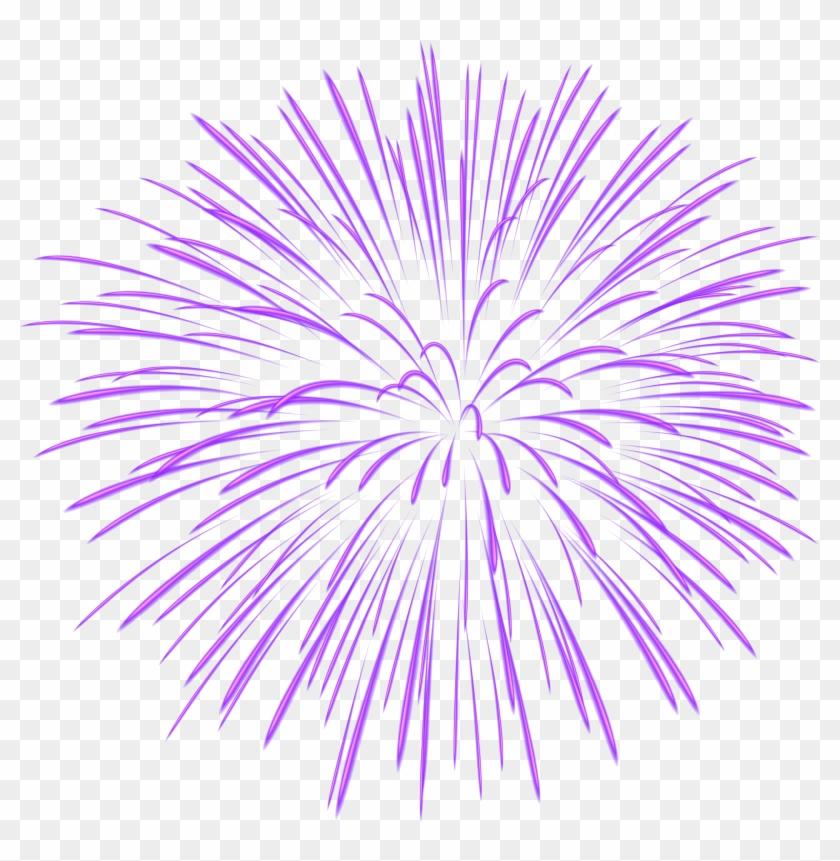 Purple Firework Transparent Png Image - Fireworks Transparent #894489