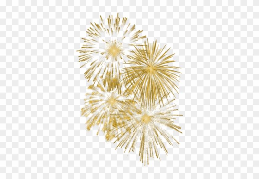 Fireworks Clipart Golden - Gold Fireworks White Background #894536