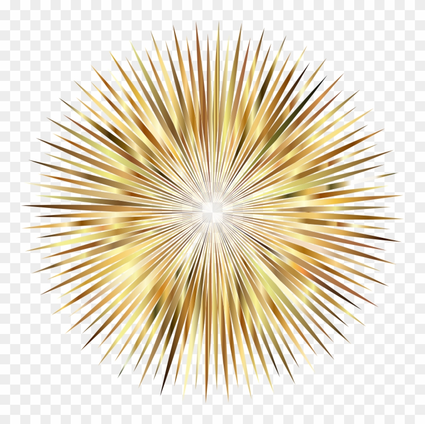 Gold Firework Png - Clear Background Fireworks Png #894709