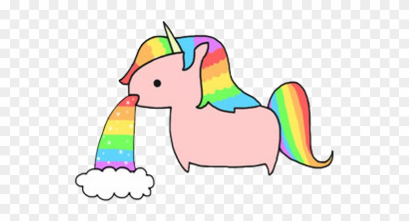 Unicornio Unicorn Arcoiris Cute Colors Love Sticker Unicorn Throwing Up Rainbow Free Transparent Png Clipart Images Download