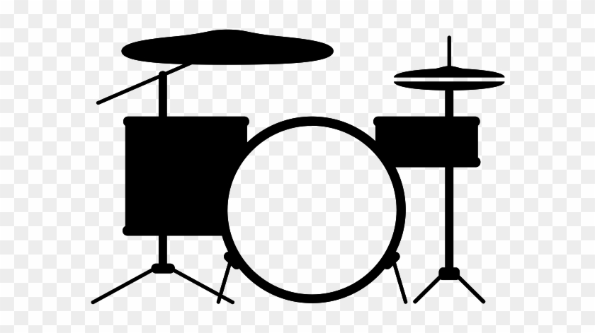 Pin Drum Sticks Clipart - Drum Set Vector Art Png #895477