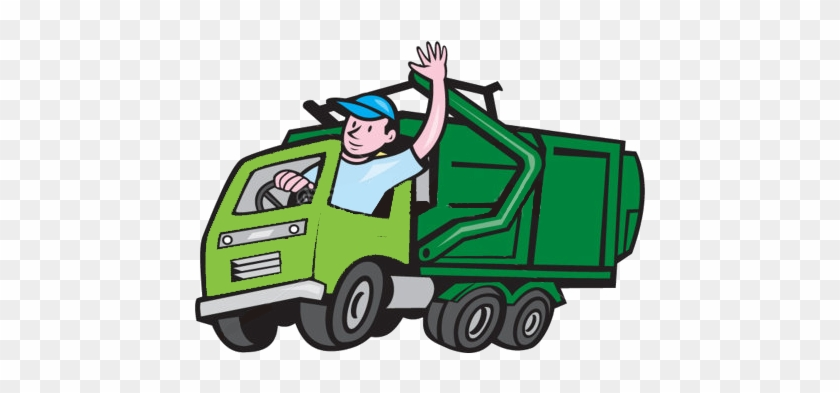 Unexpected Green Waste E - Clip Art Garbage Truck #895877