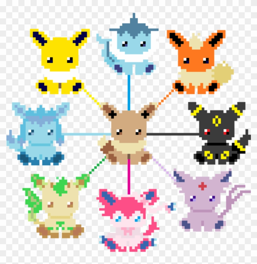 Eeveelution Of Pixel By Kiroshida Eeveelutions Cute Pixel Art Free Transparent Png Clipart Images Download