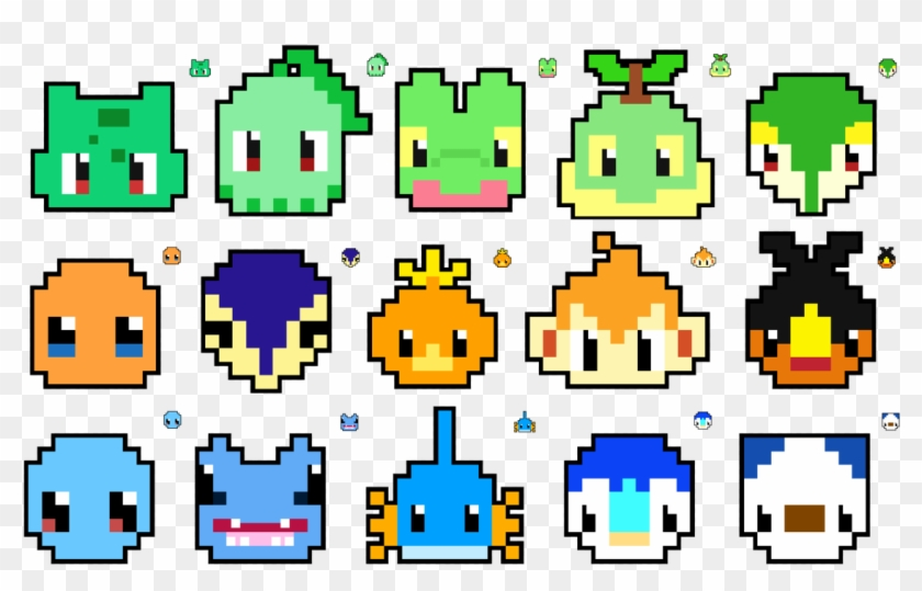 Pokemon Pixel Art Templates Mudkip Download - Pattern