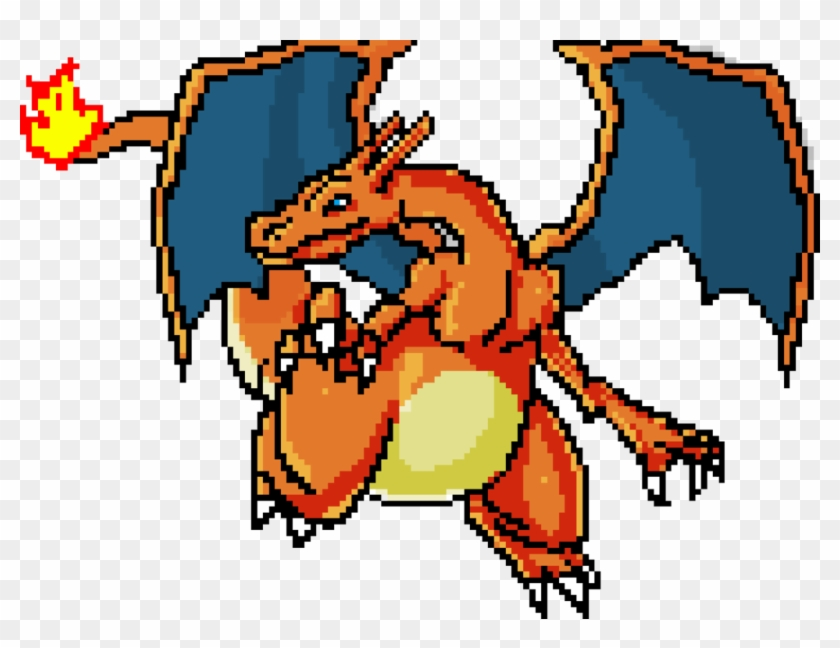 Pixel Charizard By Magam88 Charizard Pixel Art Png Free Transparent Png Clipart Images Download