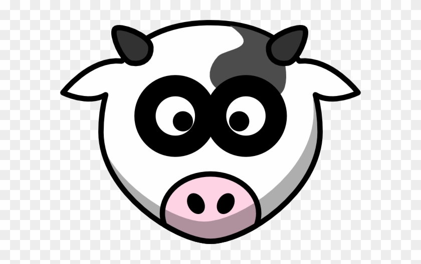Cow Head Silhouette Clip Art Free Clipart Images - Cartoon Cows Head #896583