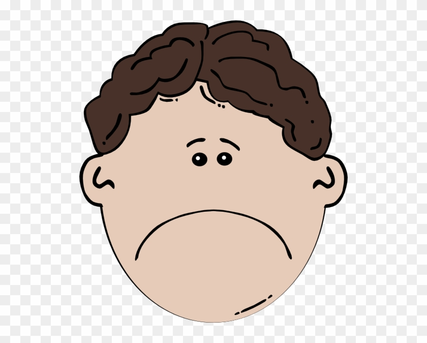 Sad Face Cartoon Boy #896607