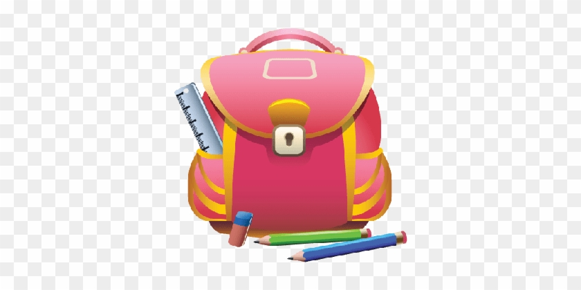 Backpack Clipart Pencil - School Bag Png Transparent #898253