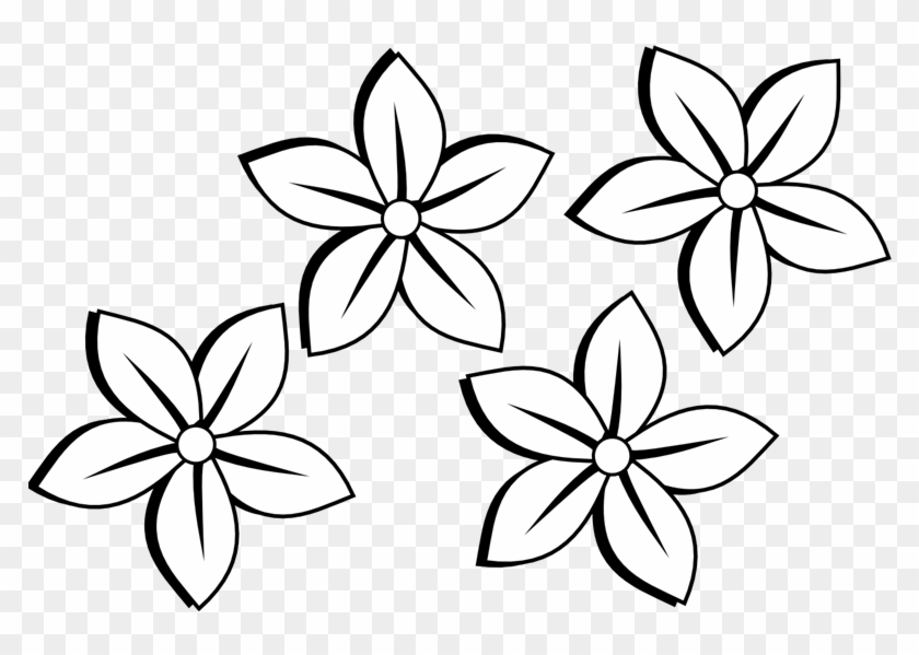 Flower Clipart Black And White Free Many Interesting Simple
