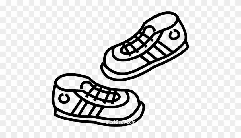 Running Shoes Royalty Free Vector Clip Art Illustration - Stay On Track On The Weekend #898571