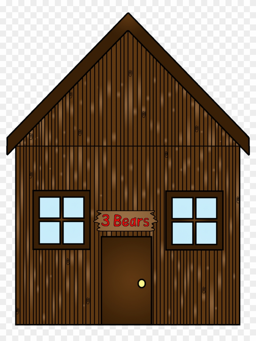 Clipart Image House Bear - Stick House Three Little Pigs #898826