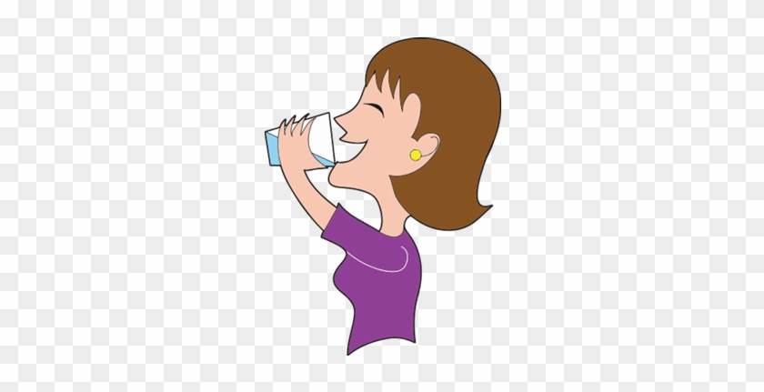 Image result for cartoon image of a person having water