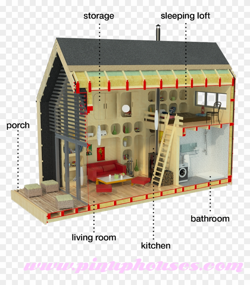 Small House Plans Loft Tiny House With Loft Plans Free Transparent Png Clipart Images Download