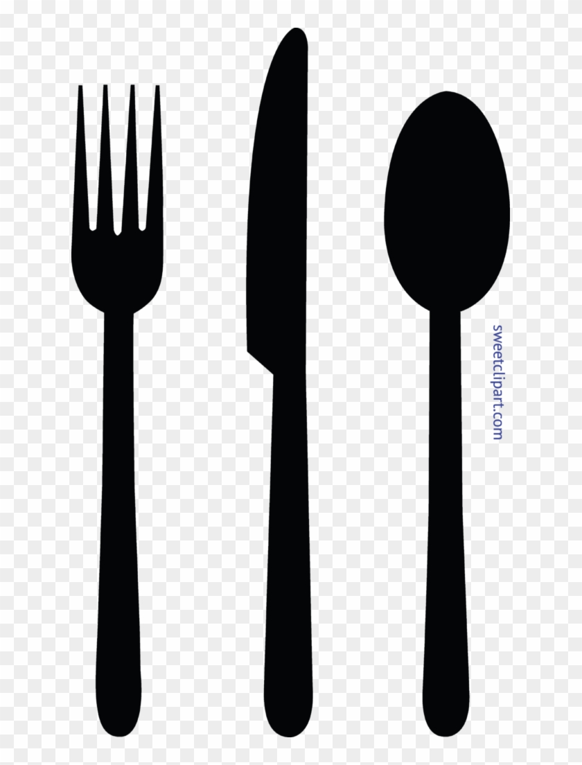 Kitchen Designs Fork Knife Spoon Black Clip Art And - Fork Spoon Knife Clipart #900757