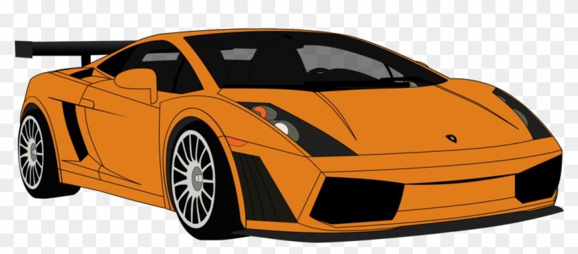 Orange Car Clipart Download Mobil Lamborghini Png Vektor Free