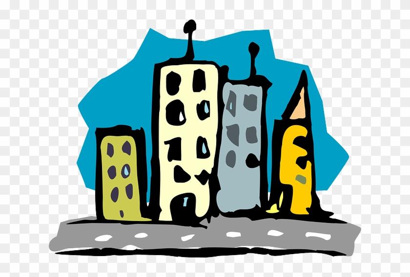 Road Buildings, City, Skyscrapers, Architecture, Road - Rascacielos De Noche 1 1 #902261