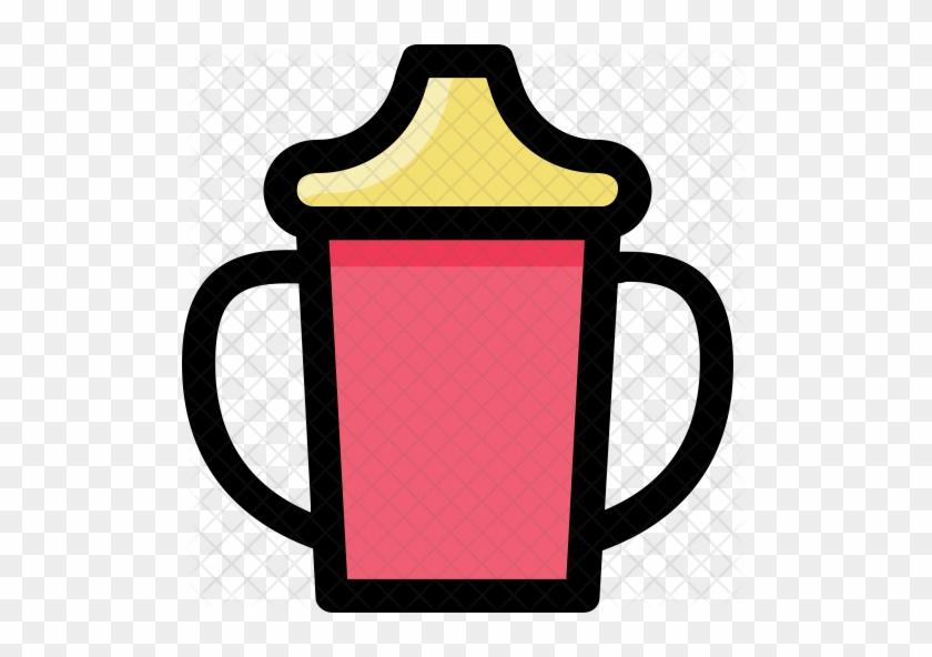 Milk Cup Icon - Sippy Cup Clip Art #902708