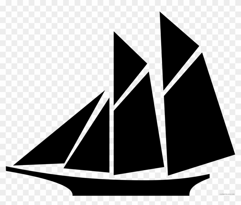 Sailboat Silhouette Transportation Free Black White - Clip Art Sail Boat #902975