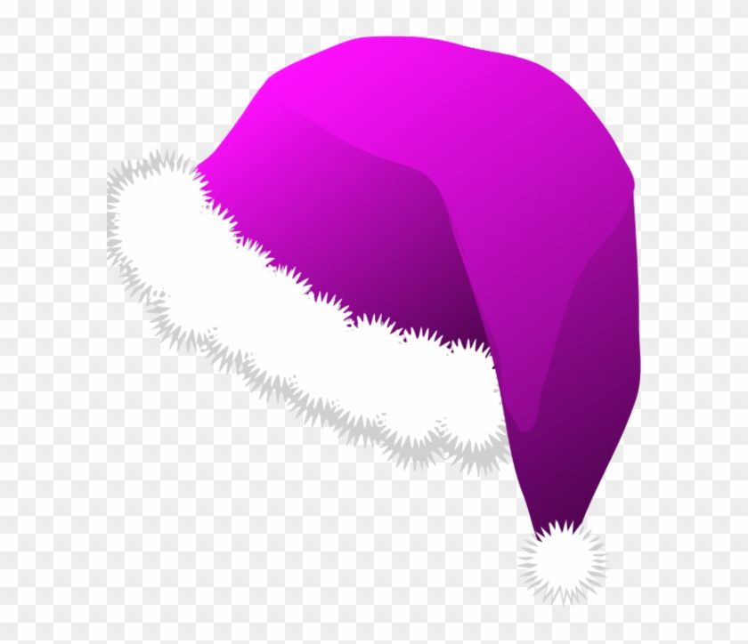 Christmas Santa Claus Hats Clipart - Purple Santa Hat Transparent #903140