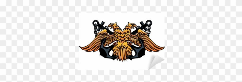Maritime Emblem With Double Headed Eagle Wall Mural - Double-headed Eagle #903625