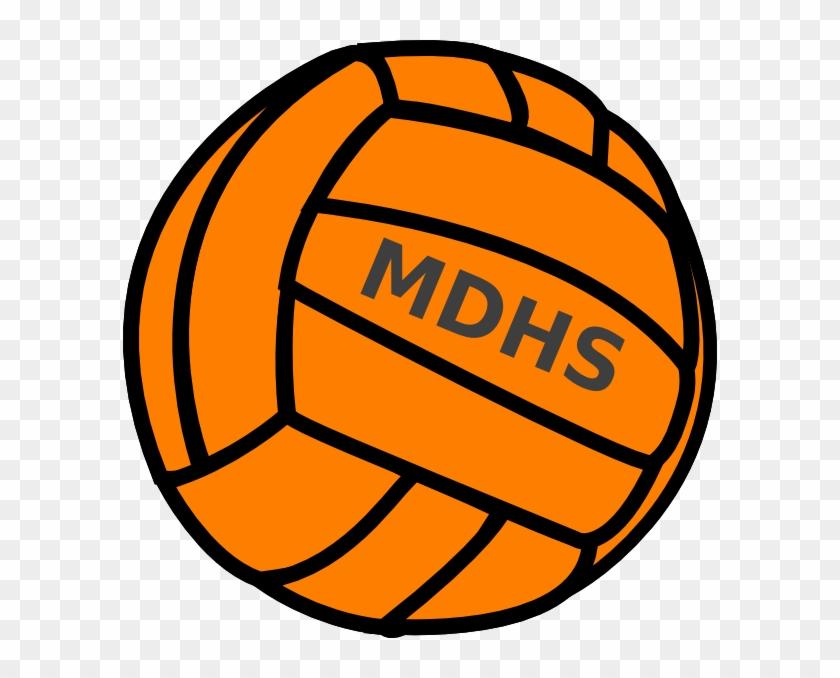 Orange Volleyball - Love Volleyball Svg #903788