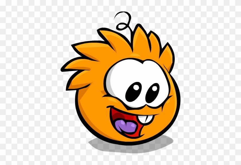 Orange Puffle Bouncing - Orange Puffle Club Penguin #903818