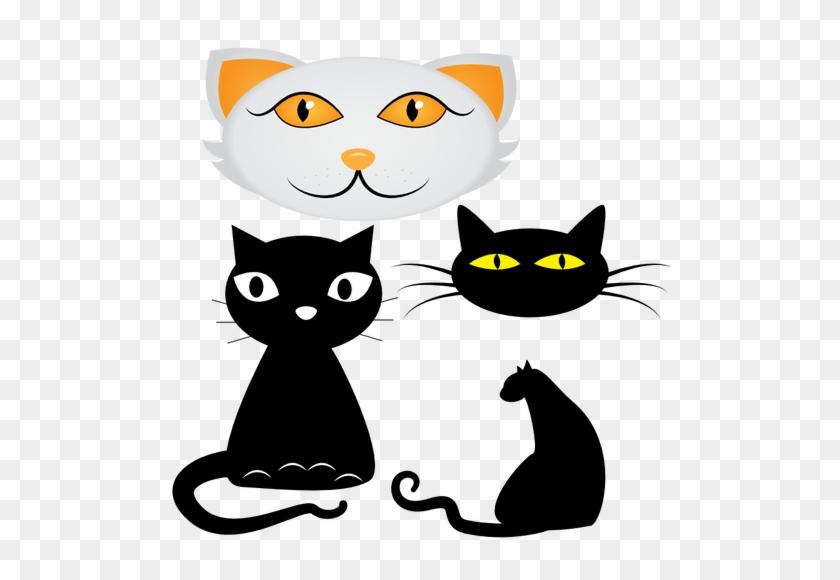 Black Cat Silhouette Clipart   Custom Cats Shower Curtain