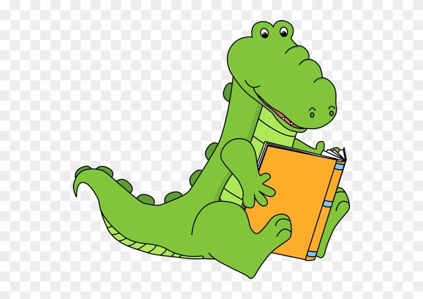 Gators Are Readers - Animals Reading Books Clip Art #904659